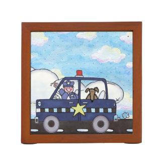 kids whimsical cute police car desk organizers