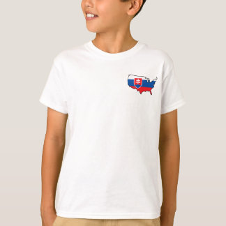 Kids White T-Shirt: Slovak in USA T-Shirt