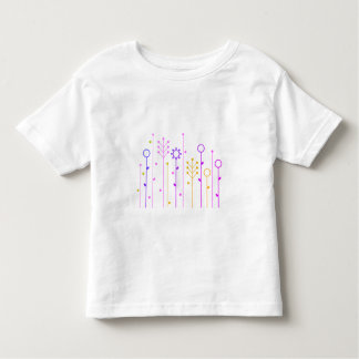 Kids white tshirt with Folk ornaments