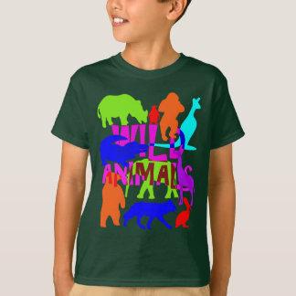 Kids Wild Animals Colorful Bright Cute T-Shirt