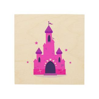 Kids wood wall art : with Princess castle