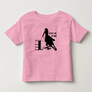 Kids Youth Cowgirl Barrel Racer Rodeo T Shirt