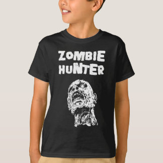 Kids Zombie Hunter Horror Tshirt - Walking Dead