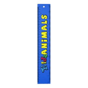 KidzAnimals Ruler with METRIC marks - Boys Logo
