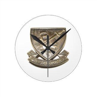 Kieffer commando - Badge 1st BFMC Round Clock