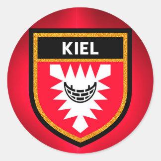 Kiel Flag Classic Round Sticker