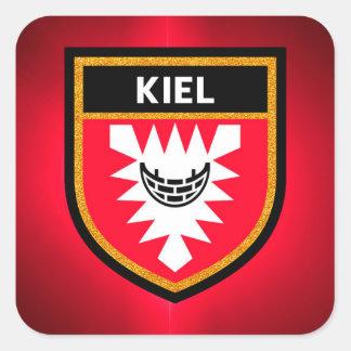Kiel Flag Square Sticker