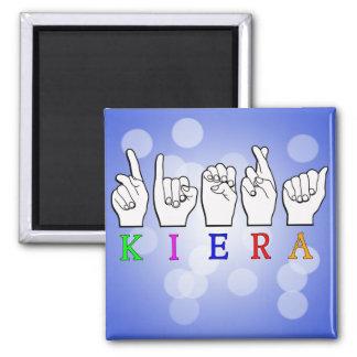 KIERA FINGERSPELLED ASL NAME SIGN MAGNET