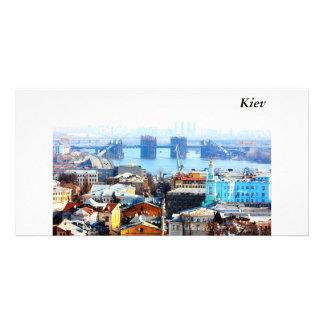 Kiev bussines and industrIal city Kiev Customized Photo Card