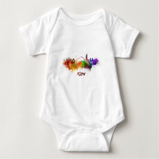 Kiev skyline in watercolor baby bodysuit
