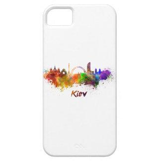 Kiev skyline in watercolor iPhone 5 case