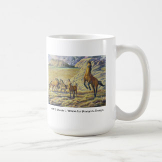 Kiger Mustang Stallion Defending His Herd Coffee Mug