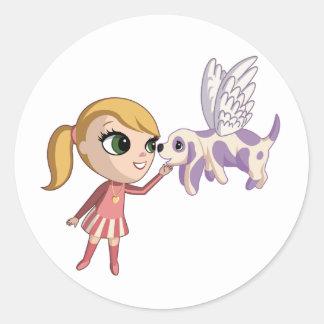 Kiki and Sugarplum Classic Round Sticker