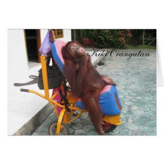 KiKi Orangutan OFI Charity Card