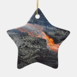 Kilauea Lava Flow Ceramic Ornament