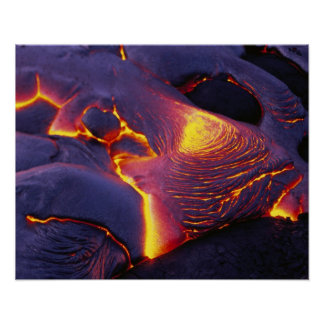 Kilauea Volcano Hawaii Volcanoes National Park Poster