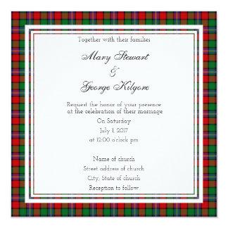 Kilgore Scottish Wedding Square Invitation