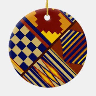 Kilim Prayer Rug design Ceramic Ornament