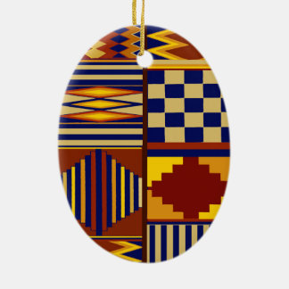 Kilim Prayer Rug design Ceramic Ornament