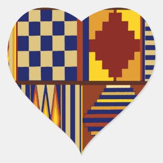Kilim Prayer Rug design Heart Sticker