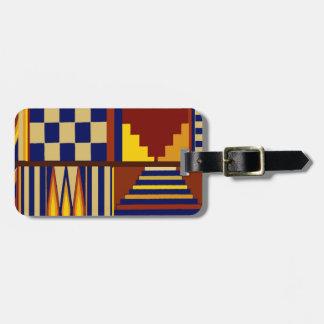Kilim Prayer Rug design Luggage Tag