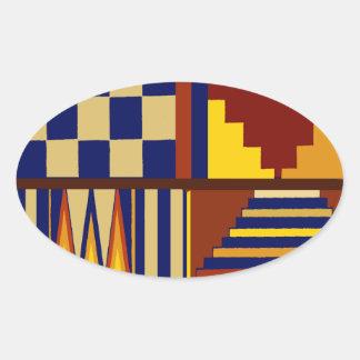 Kilim Prayer Rug design Oval Sticker