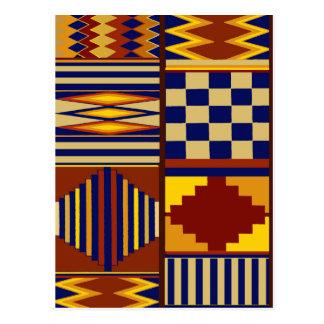 Kilim Prayer Rug design Postcard