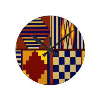 Kilim Prayer Rug design Round Clock
