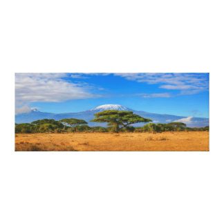 Kilimanjaro Mountain Tanzania Kenya Travel Africa Canvas Print