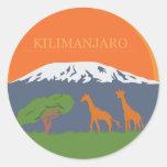 Kilimanjaro Round Sticker