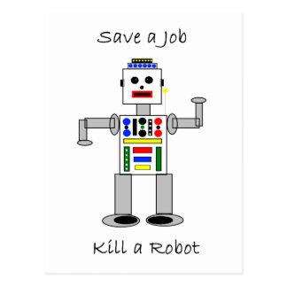 Kill a Robot Post Card