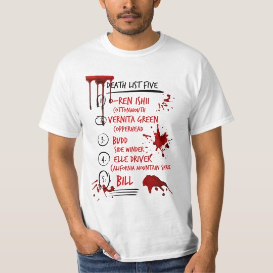 Kill Bill Death List Five T-Shirt