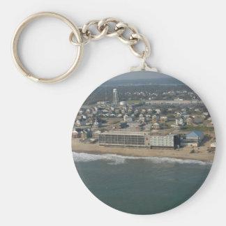 Kill Devil Hills coastline Basic Round Button Keychain