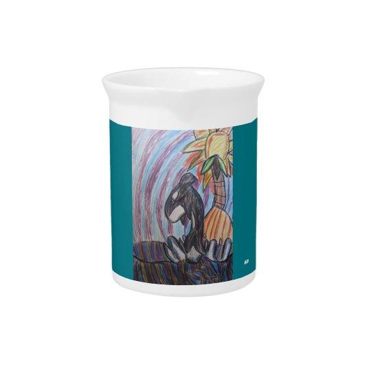 Kill whale art pitcher