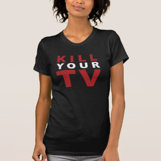 KILL YOUR TV - RED AND WHITE T-Shirt