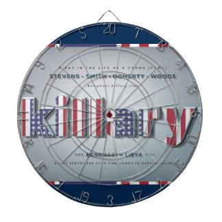 Killary Crooked Hillary Benghazi TRUMP 4 PRESIDENT Dartboard