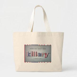 Killary Crooked Hillary Benghazi TRUMP 4 PRESIDENT Large Tote Bag