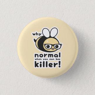Killer Bee 1 Inch Round Button