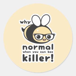 Killer Bee Classic Round Sticker