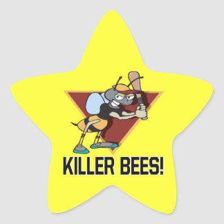 Killer Bees Star Sticker