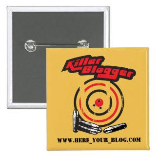 Killer Blogger 2 Inch Square Button