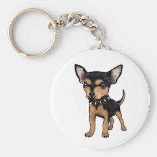 Killer Chihuahua Basic Round Button Keychain