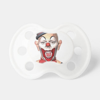 Killer Clown looking to the front Baby Pacifiers