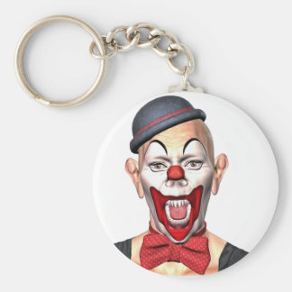 Killer Clown looking to the front Basic Round Button Keychain
