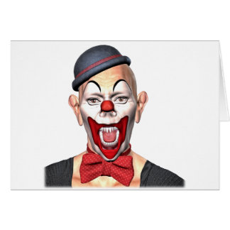 Killer Clown looking to the front Card