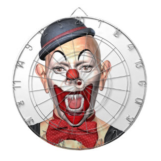 Killer Clown looking to the front Dart Board
