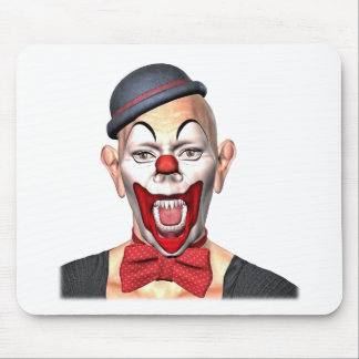 Killer Clown looking to the front Mouse Pad