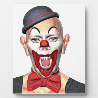 Killer Clown looking to the front Plaque