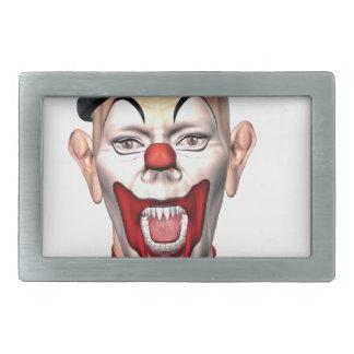 Killer Clown looking to the front Rectangular Belt Buckles