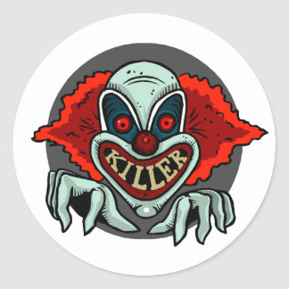 Killer Clown Round Sticker